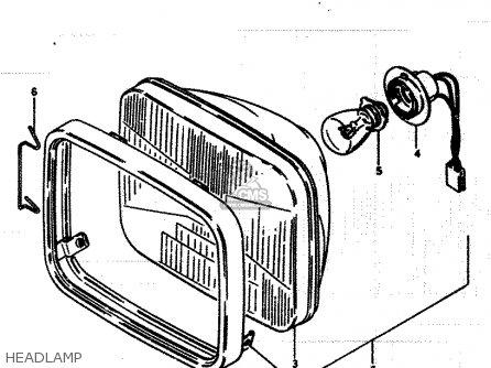 Suzuki Lt250ef 1986 g Headlamp