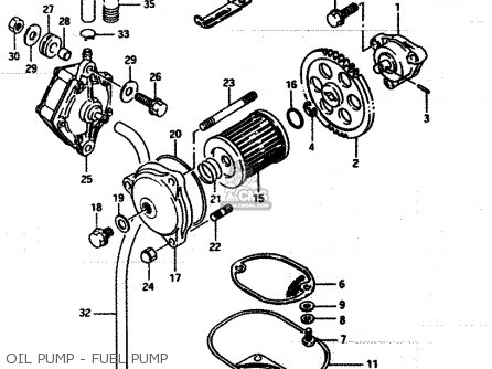 suzuki lt250ef 1986 g parts lists and schematics  suzuki lt250ef 1986 g oil pump fuel pump