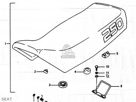 Suzuki Lt250ef 1986 g Seat