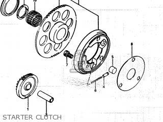 Suzuki Lt250ef 1986 g Starter Clutch