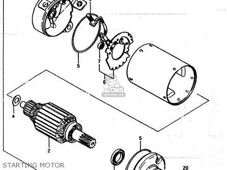 Suzuki Lt250ef 1986 g Starting Motor