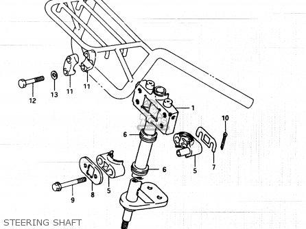 Suzuki Lt250ef 1986 g Steering Shaft