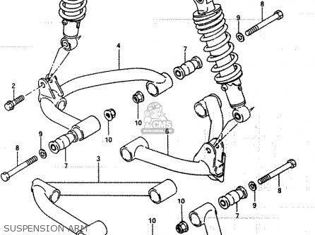 Suzuki Lt250ef 1986 g Suspension Arm