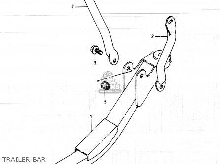 Suzuki Lt250ef 1986 g Trailer Bar