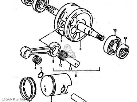 Diagram Of Suzuki Atv Parts 1985 Lt50 Clutch Coveroil Pump Diagram