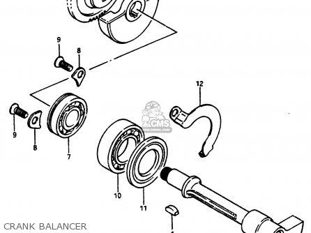 suzuki lt500r 1987 (h) crank balancer