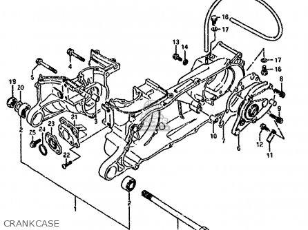 Suzuki Lt80 1990 l Crankcase