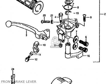 Suzuki Lt80 1990 l Front Brake Lever