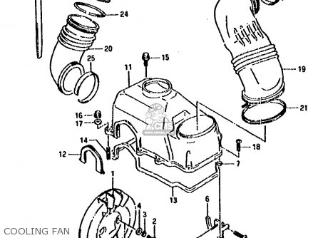 Suzuki Lt80 1990 l General United Kingdom e01 E02 Cooling Fan