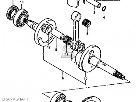 Suzuki Lt80 1990 l General United Kingdom e01 E02 Crankshaft