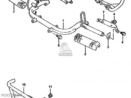 Suzuki Lt80 1990 l General United Kingdom e01 E02 Footrest