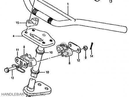 Suzuki Lt80 1990 l General United Kingdom e01 E02 Handlebar-steering