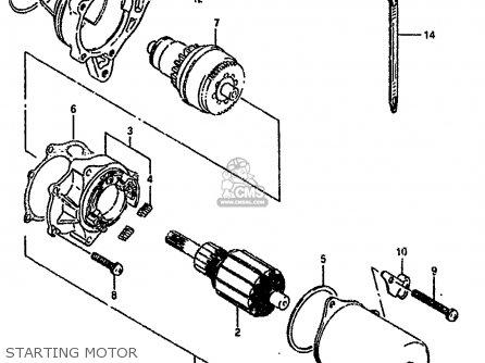 Suzuki Lt80 1990 l General United Kingdom e01 E02 Starting Motor