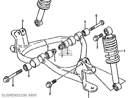 Suzuki Lt80 1990 l General United Kingdom e01 E02 Suspension Arm