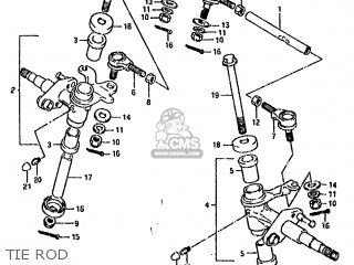 Suzuki Lt80 1990 l General United Kingdom e01 E02 Tie Rod