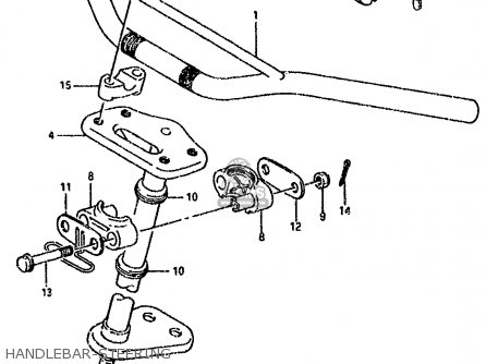 Suzuki Lt80 1990 l Handlebar-steering