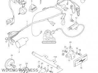 tpi wiring harness suzuki lt80 quad sport 2002 (k2) usa (e03) quadsport quad ...