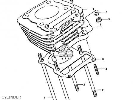 suzuki ltf230 1987  h  parts list partsmanual partsfiche