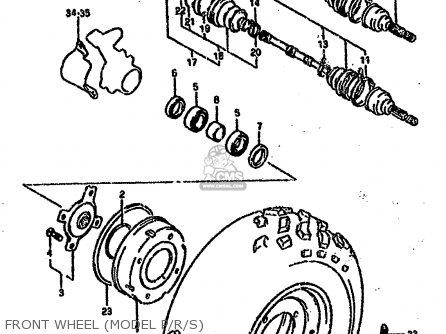 Suzuki Ltf4wd 1987 h Sweden Australia e17 E24 Front Wheel model P r s