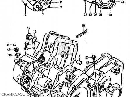 Suzuki Ltf4wd 1988 j Crankcase Cover