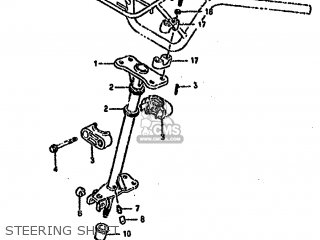 Suzuki Ltf4wd 1988 j Steering Shaft