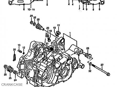 Suzuki Ltf4wd 1988 j United Kingdom Sweden Australia e02 E17 E24 Crankcase