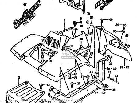 Suzuki Ltf4wd 1988 j United Kingdom Sweden Australia e02 E17 E24 Front Fender model M n p r s E24