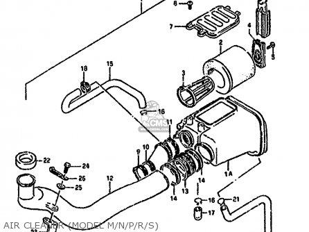 Suzuki Ltf4wd 1989 k United Kingdom Sweden Australia e02 E17 E24 Air Cleaner model M n p r s