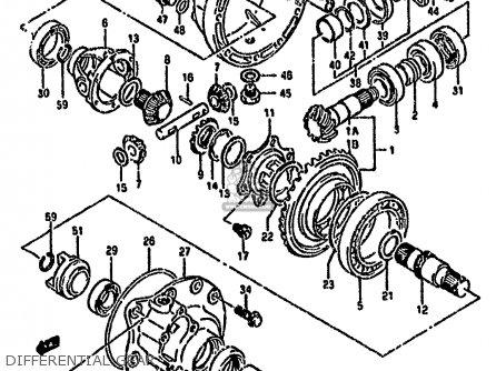 Suzuki Ltf4wd 1989 k United Kingdom Sweden Australia e02 E17 E24 Differential Gear