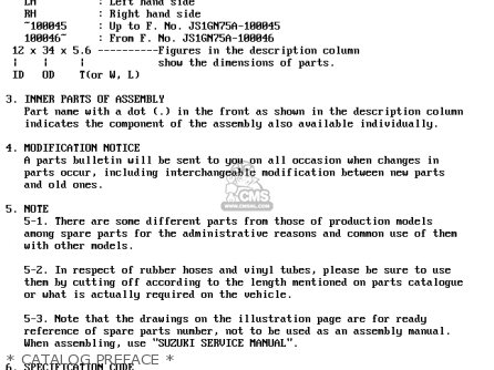 Suzuki Ltf4wd 1989 k   Catalog Preface