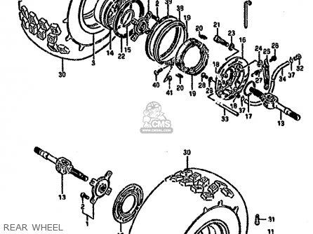 Suzuki Ltf4wd 1990 l United Kingdom Sweden Australia e02 E17 E24 Rear Wheel