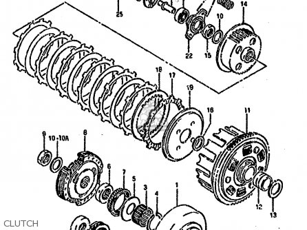 Suzuki Ltf4wd 1993 p Clutch