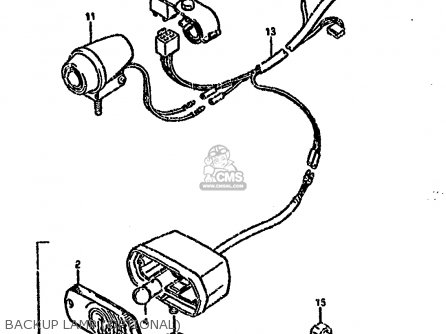 Suzuki Ltf4wd 1993 p United Kingdom Sweden Australia e02 E17 E24 Backup Lamp optional