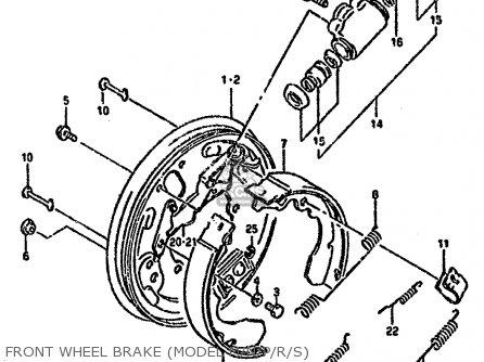 Suzuki Ltf4wd 1993 p United Kingdom Sweden Australia e02 E17 E24 Front Wheel Brake model M n p r s