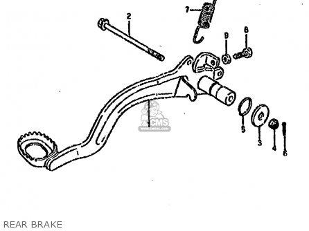 Suzuki Ltf4wd 1993 p United Kingdom Sweden Australia e02 E17 E24 Rear Brake