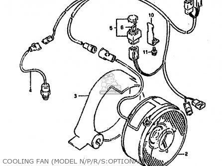 Suzuki Ltf4wd 1994 r United Kingdom Sweden Australia e02 E17 E24 Cooling Fan model N p r s optional