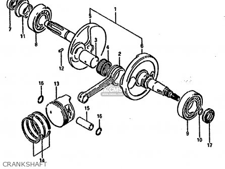 Suzuki Ltf4wd 1994 r United Kingdom Sweden Australia e02 E17 E24 Crankshaft