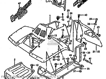 Suzuki Ltf4wd 1994 r United Kingdom Sweden Australia e02 E17 E24 Front Fender model M n p r s E24