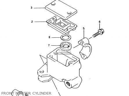 Suzuki Ltf4wd 1996 t Front Master Cylinder