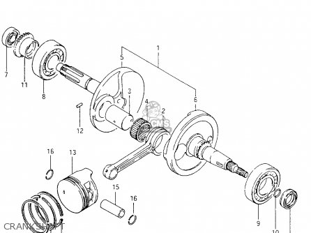 Suzuki Ltf4wd 1996 t United Kingdom Sweden Australia e02 E17 E24 Crankshaft
