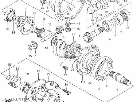 Suzuki Ltf4wd 1996 t United Kingdom Sweden Australia e02 E17 E24 Differential Gear