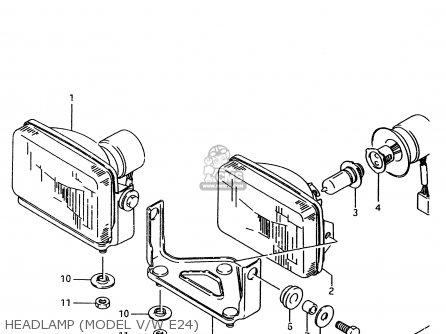Suzuki Ltf4wd 1996 t United Kingdom Sweden Australia e02 E17 E24 Headlamp model V w E24