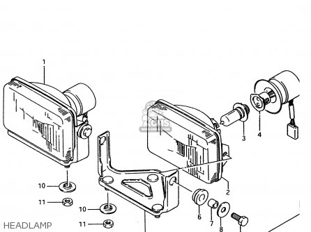 Suzuki Ltf4wd 1996 t United Kingdom Sweden Australia e02 E17 E24 Headlamp