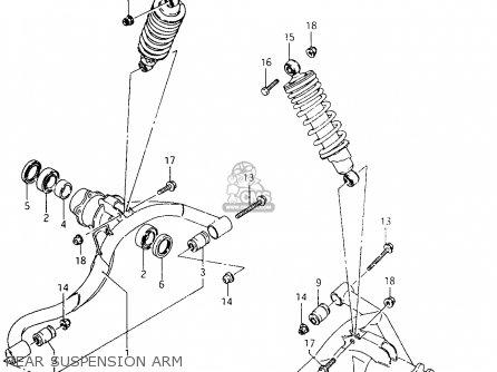 Suzuki Ltf4wd 1996 t United Kingdom Sweden Australia e02 E17 E24 Rear Suspension Arm