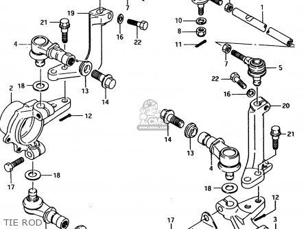 Suzuki Ltf4wd 1996 t United Kingdom Sweden Australia e02 E17 E24 Tie Rod