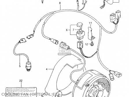 Suzuki Ltf4wd 1997 v Cooling Fan optional e2