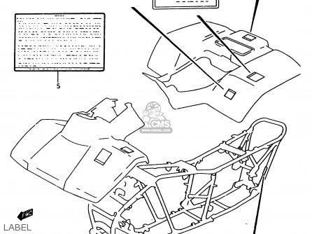 Suzuki Ltf4wd 1997 v Label