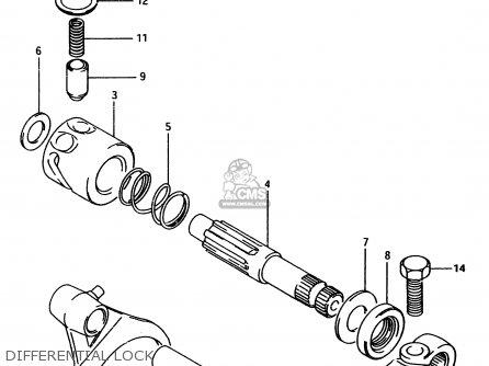 Suzuki Ltf4wd 1997 v Sweden Australia e17 E24 Differential Lock