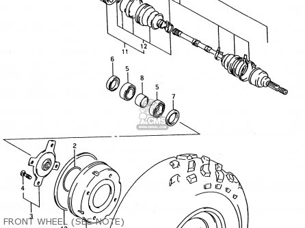 Suzuki Ltf4wd 1997 v Sweden Australia e17 E24 Front Wheel see Note