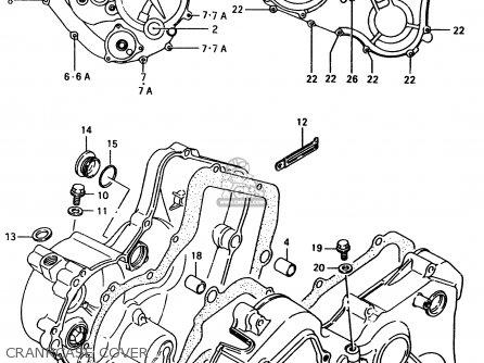 Suzuki Ltf4wd 1998 w Sweden Australia e17 E24 Crankcase Cover